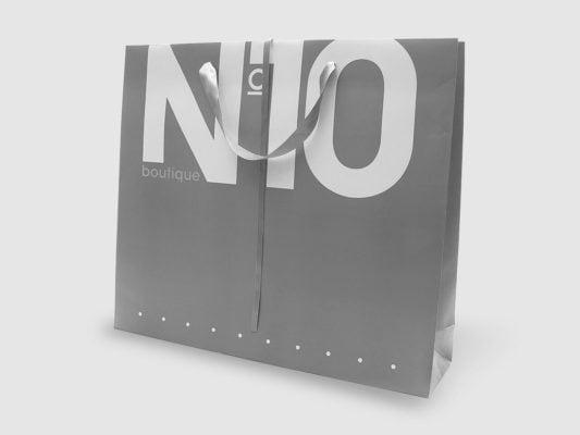 Busta in carta lusso grigia e bianca N10
