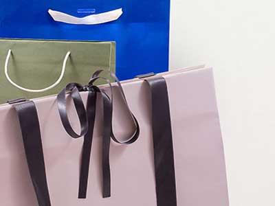 Sacchetti in carta di lusso in vari modelli