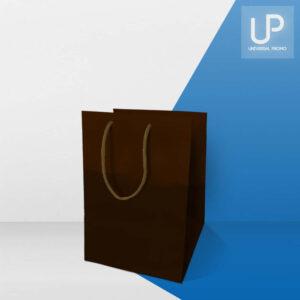 Shopping bag marrone lusso in carta