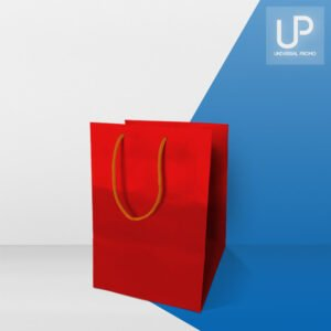 Shopping bag rossa lusso in carta
