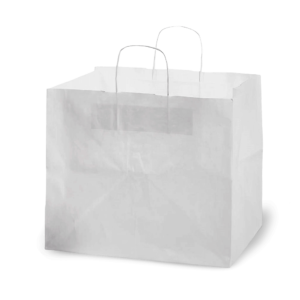 Shopper porta pizza in carta bianca
