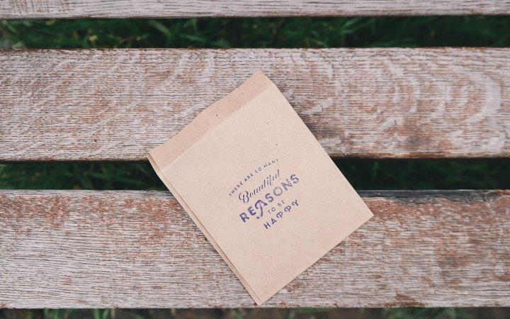 Busta personalizzata piatta in carta avana